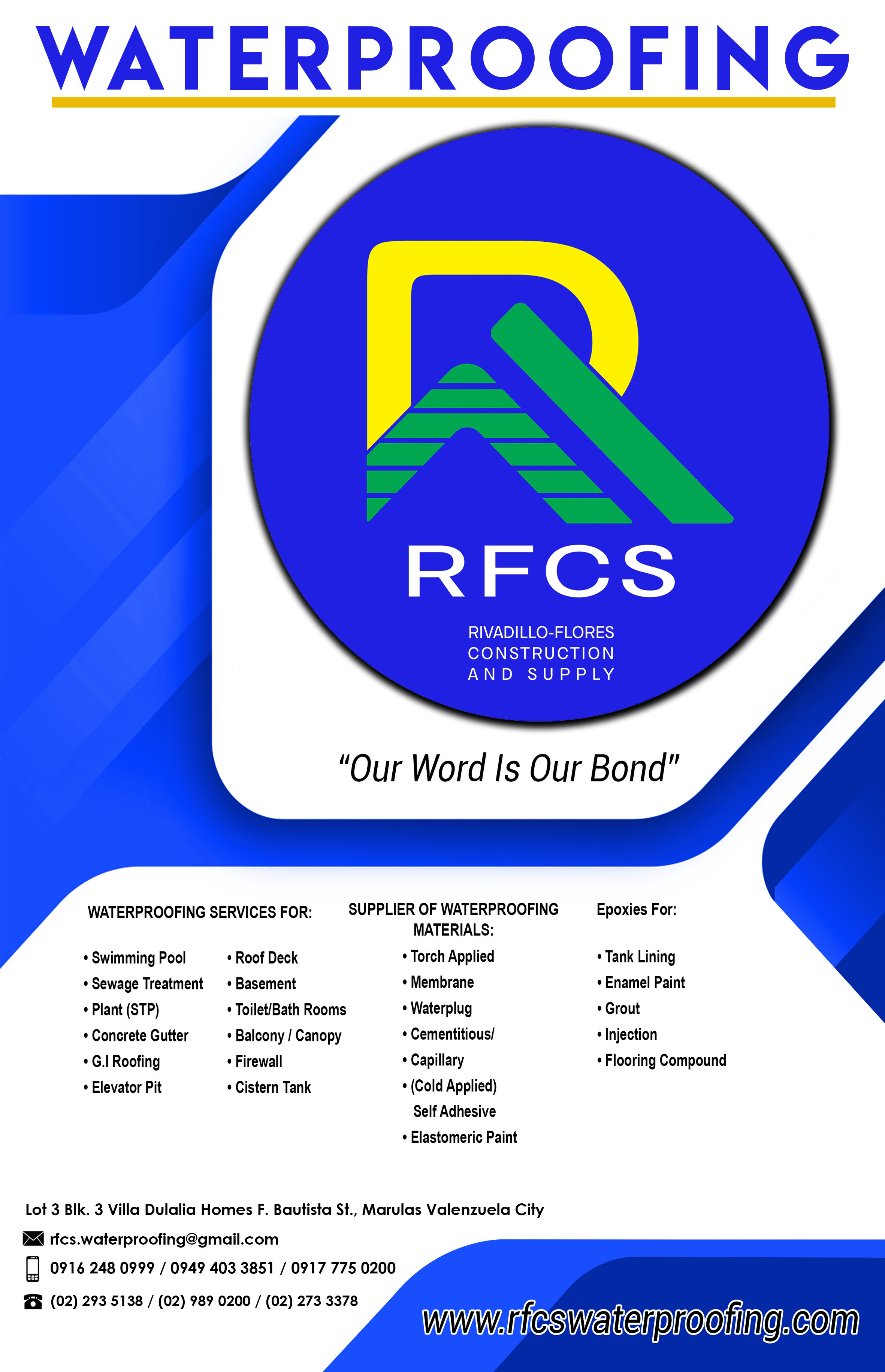 Services – RFCS Waterproofing
